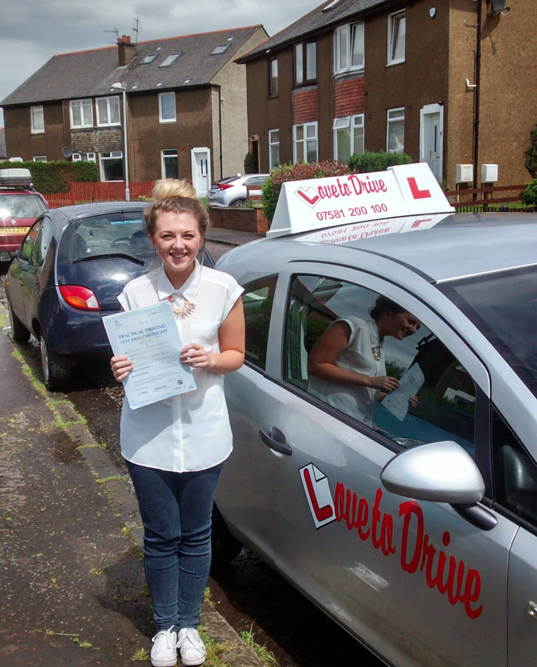 Lauren, newly qualified driver