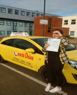 Casey, newly qualified driver
